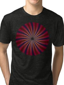 Blue and red swirl pattern Tri-blend T-Shirt