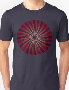 Blue and red swirl pattern T-Shirt