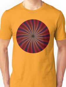 Blue and red swirl pattern Unisex T-Shirt