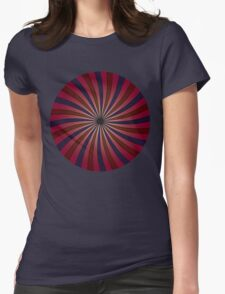 Blue and red swirl pattern Womens Fitted T-Shirt