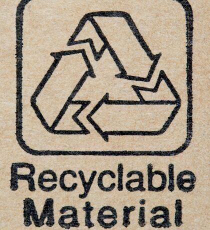Recyclable Material Sticker