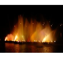 Lightshow and Water Photographic Print