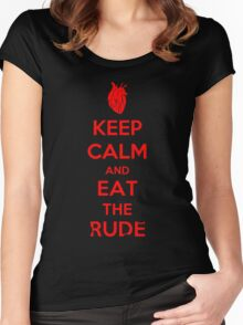 Keep Calm and Eat the Rude Women's Fitted Scoop T-Shirt