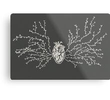 Anatomical Botanical Heart Paper-cut Metal Print