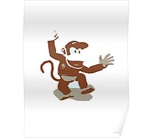 Minimalist Diddy Kong from Super Smash Bros. Brawl Poster