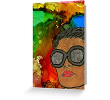 Fluid Thoughts Greeting Card