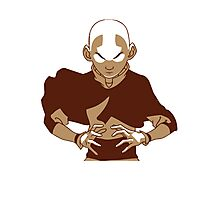 Minimalist Aang from Avatar the Last Airbender Photographic Print