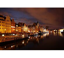 Gdansk by night Photographic Print