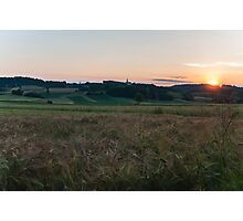 Sunset at the fields Photographic Print