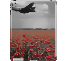 Lancaster Flyover with Red Poppies iPad Case/Skin