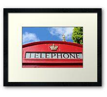Telephone St Paul's Framed Print
