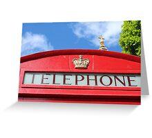 Telephone St Paul's Greeting Card
