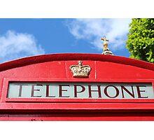 Telephone St Paul's Photographic Print