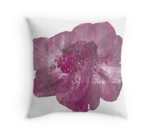 Pink and Purple Anenome Flower Print Throw Pillow