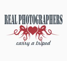 Real Photographers Carry a Tripod II Kids Tee