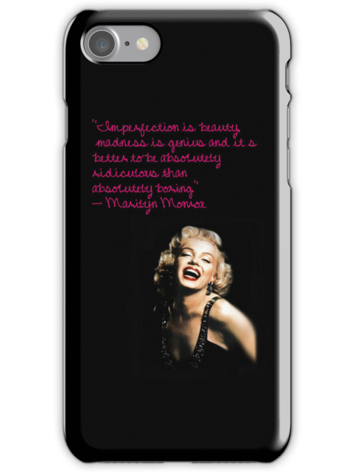 Marilyn Monroe quote iPhone case by flaaaash
