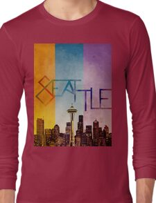 Seattle in Color Long Sleeve T-Shirt