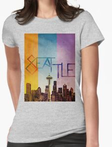 Seattle in Color Womens Fitted T-Shirt