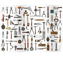 Tools and Utensils. Good Old Days. Poster