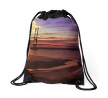 Humber Bridge Sunset Drawstring Bag