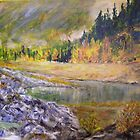 Camping at Carpenter Lake BC by Lynda Earley