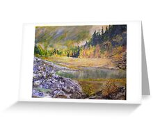 Camping at Carpenter Lake BC Greeting Card