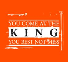 """""""You Come at the King, You Best Not Miss"""" - The Wire (Light) Kids Clothes"""