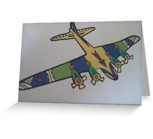 War plane cartoon multicoloured Greeting Card