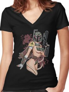Boba Femme Women's Fitted V-Neck T-Shirt