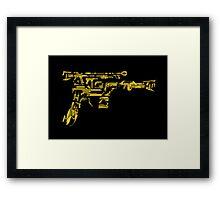 No Match for a Good Blaster - 26 Classic Sci Fi guns Framed Print