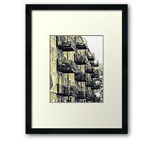Boston Balconies, Massachusetts Framed Print