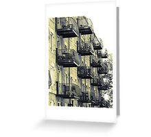Boston Balconies, Massachusetts Greeting Card