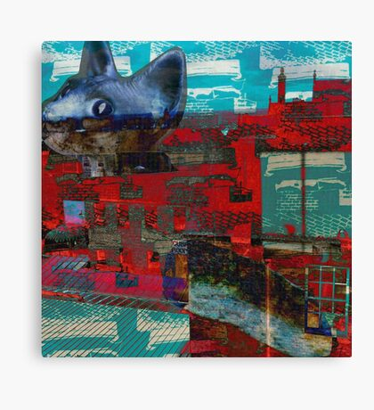 cat on the prowl Canvas Print