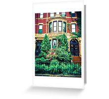 Boston Brownstone Greeting Card