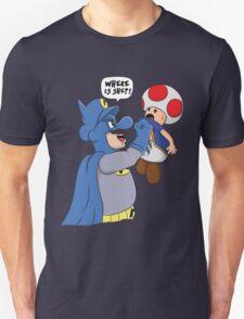 Where is she!? - Mario/Batman Shirt T-Shirt