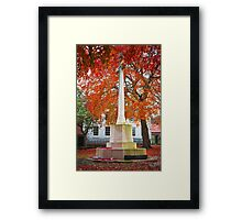 War Memorial, Newark Framed Print