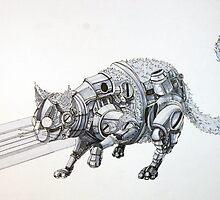 Clockwork Cat illustration by Ethan Yazel by EthanBurnsides
