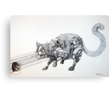 Clockwork Cat illustration by Ethan Yazel Canvas Print