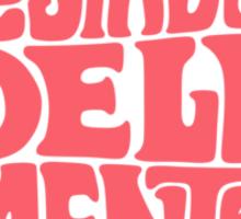 Sunny State of mind Pastel Rose Sticker