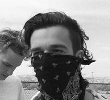 Matty and George Sticker