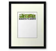 Kermits I've Known Framed Print