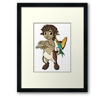 F is for Faun Framed Print