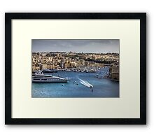 Birgu waterfront Framed Print