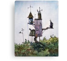 House in the Trees illustration by Ethan Yazel Canvas Print