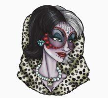 Day of the Dead Cruella De Vil - 101 Dalmatians  by HungryDesigns
