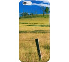 Outback mountain and field in the Scenic Rim, Queensland. iPhone Case/Skin