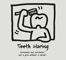 Teeth Haring_A (mono) Unisex T-Shirt