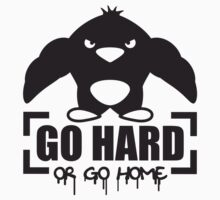Go Hard Or Go Home Muscle Penguin T-Shirt