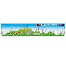 Kokoda Track Wall Map Photographic Print