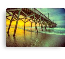Sunday Morning Pier Sunrise Canvas Print